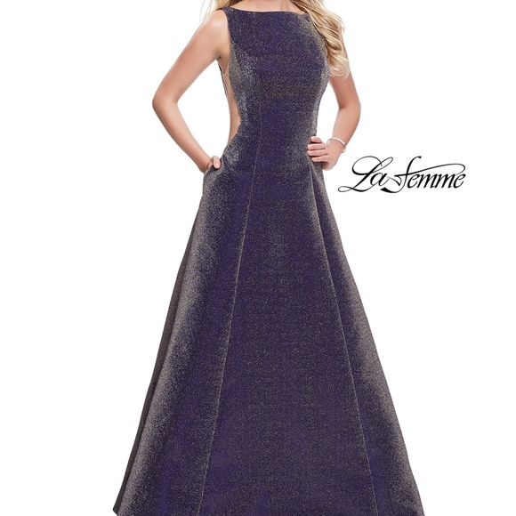 cb3e641e La Femme Dresses | Nwt Glitter Prom Dress | Poshmark